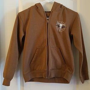 Boys Cowboy Hardware jacket w/hood size M